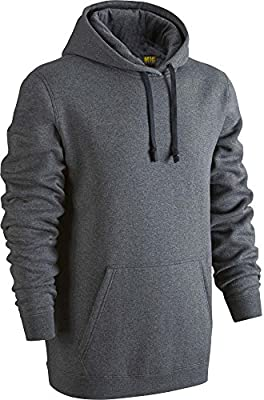 Mens Classic Hoodie Sweatshirt Size XS To 6XL by Mig - Plain Hooded Pullovers For Sports Casual Work Leisure