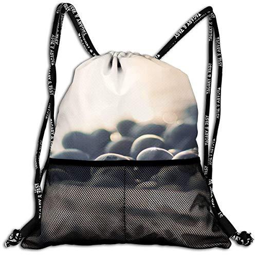 ewtretr Sacs à Cordon, Blueberry Gymsack Drawstring Sports Backpack Shoulders Buggy Bag