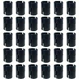 100 Stück 2,54 cm Draht-Clips für Regalbretter, Regalschloss, Metall-Rack, Ersatzteil, geteilte Hülsen, Rack, Kunststoff, schwarz