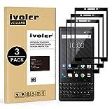 VGUARD [Pack de 3] Verre Trempé pour Blackberry Key2 / Blackberry Key 2, [Couverture Complète] Film Protection en Verre trempé écran Protecteur Vitre (Noir)