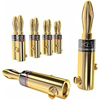 KabelDirekt - Bananenstecker - 5 Paare - (4mm² Steckverbinder, flexibler Anschluss der Kabel, Hifi Boxen, Verstärker, AV-Receiver, Endstufen, Sound- und Stereoanlagen) - PRO Series