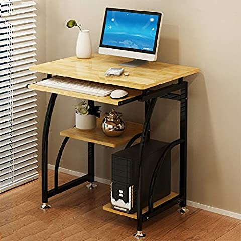 Computer PC Desk Table Study Workstation Pull Out Home Office Desk,vanpower Modern Wooden Computer Desk Student Table with Sliding Keyboard and Cupboard Drawers