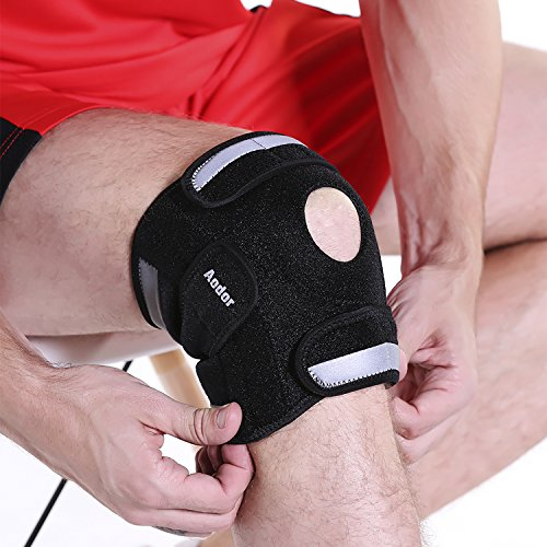 aodor-black-adjustable-knee-brace-support-for-sportsoutdoor-activities-reflective-strips-new-designe