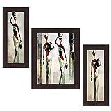 #8: Wens Ladies View MDF Wall Art (30 cm x 34 cm x 1.5 cm , Set of 3)