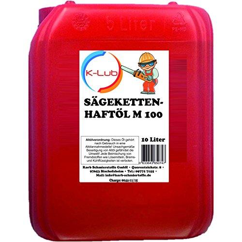 Preisvergleich Produktbild 10 Liter K-Lub Sägekettenöl M 100 mit Superhaft Zusatz,  Kettensägeöl mineralisch