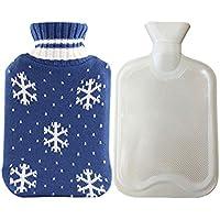 Wärmflasche mit Strickbezug, Winter-Handwärmer, Verbrühschutzfunktion, Weihnachtsgeschenk preisvergleich bei billige-tabletten.eu