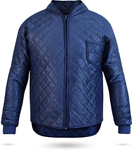 normani Thermo-Unterzieh-Jacke Thermojacke Thermounterwäsche mit Nierenschutz Blau Gr. S-XXXL Größe XXL