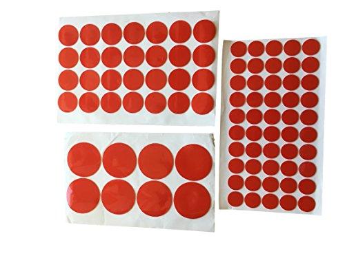 STICKY TAPE - Flächen SET - RUND Kreise Doppelseitiges Klebeband Transparent 1mm Acryl Schicht - EXTRA STARK für Bau Werkstatt Hobby - 50x 20mm + 28x 30mm + 8x 40mm - DoppelKlebe-Band - Profi
