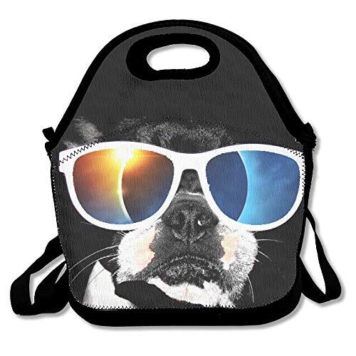Lunchbox mit Hundemotiv, Sonnenbrille, Lunchbox, Lunchbox, mit verstellbarem Gurt, für Kinder und Erwachsene, für Schule, Picknick, Büro, Reisen, Schule