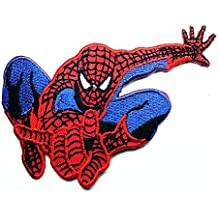 Spiderman Web Superhero Cartoon Patch Embroidered Iron on Hat Jacket Hoodie Backpack Ideal for Gift/ 10cm(w) X 6cm(h) by Think Patch cartoon