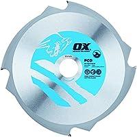 Buey ox-pcd-216/304dientes hoja de corte para cemento de fibra, 0V, Plata/Azul, 216/30mm
