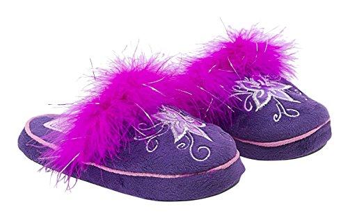 Conguitos Zapatilla de Casa - Zapatillas de casa para niñas, color morado, talla 35