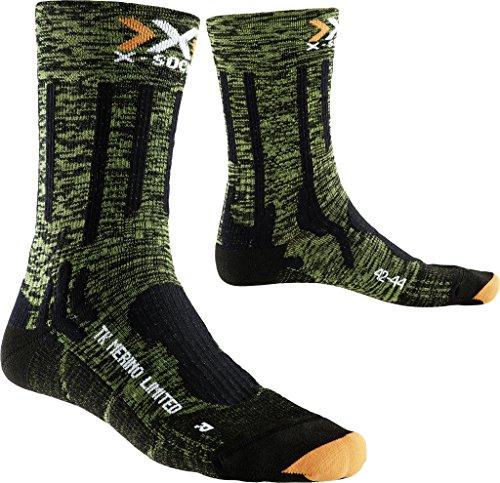 X-Socks Herren Socken TREKKING MERINO LIMITED, Green Lime/Black, 42/44, X100077