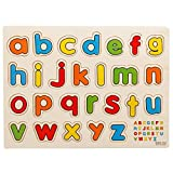 #6: FunBlast™ Wooden Colorful Learning Letters Alphabets Board for Kids With Knobs, Educational Learning Wooden Tray (Small Letters)