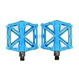 Hrph mountain bike MTB pedali strada ciclismo in lega di alluminio ultra-leggero cuscinetto pedali BMX bici accessori, Blue