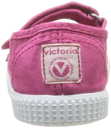 Victoria Mercedes Velcro Lona Tinta, Baskets mode fille Rose (Fuscia)