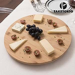 bambou plateau de service plateau plateau tournant g teau rotatif cuisine maison. Black Bedroom Furniture Sets. Home Design Ideas