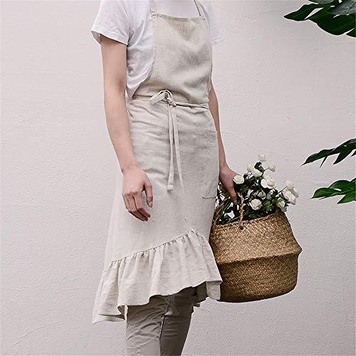 - Reine Baumwolle-ernte (YXDZ Koreanische Version Der Süßen Reinen Farbe Baumwolle Kaffee Bar Milch Tee Shop Uniformen Schürze Taille Kleider Frauen Leinen Farbe 70 * 90Cm)