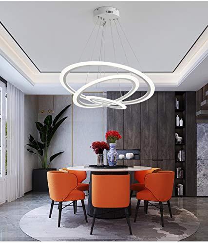 Rund Weiß Einfaches Pendelleuchte Acryl Circular Esszimmer Beleuchtung Moderne Wohnzimmer Büro Lampe Led Wohnzimmer Led, Durchmesser 20 cm, warmweiß -
