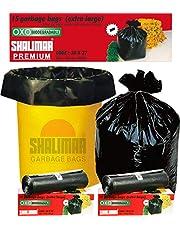 Shalimar Premium OXO - Biodegradable Garbage Bags (Extra Large) Size 76 cm x 94 cm 6 Rolls (90 Bags) (Black Colour)
