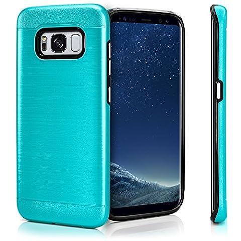 Evasion Case für Samsung Galaxy S8 | Dual Layer Handyhülle aus Silikon und TPU | Zubehör Cover zum Handy Schutz | Handyhülle Bumper Tasche gebürstet Aluminium Optik in Shock