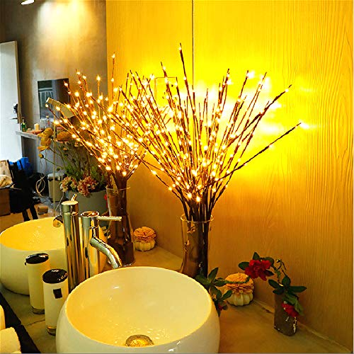 Ramas de capacidad iluminado Blanco cálido 60Luces LED Ramas de salice árbol Artificial lámpara para la decoración de la Fiesta de casa decoración con pilas ya09049