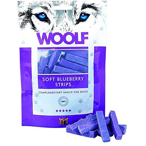 WOOLF Hähnchenstreifen und 100g Blaubeeren - Snacks für Hunde