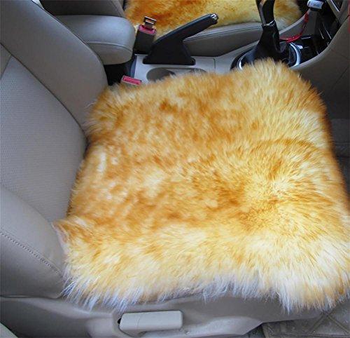 Ruirui Vera pelle di pecora lana lungo sedia divano cuscino Pad Car Seat Cover bianco naturale , c