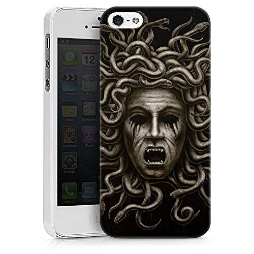 Apple iPhone X Silikon Hülle Case Schutzhülle Medusa Frau Schlangen Hard Case weiß