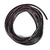 Protector Puerta Coche WINOMO 5M Tiras Decorativas para Coche Cinta Decorativa Adhesiva para Autos Negro
