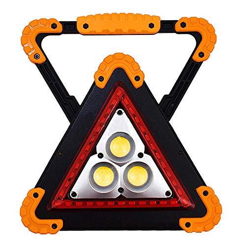 P12cheng Camping-Laterne, ultrahelle LED-Laterne, tragbares Dreieck COB LED-Arbeitslicht, Taschenlampe, Outdoor Camping Notfall-Lampe, Black+Yellow (Notfall-hurricane-lampen)