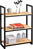 HomeTrends4You 443722 Regal, Holz, wildeiche / metall roh, 80 x 34 x 110 cm