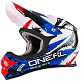 Oneal 3 Serie Shocker casco de Motocross, color Black Blue Red, tamaño XS