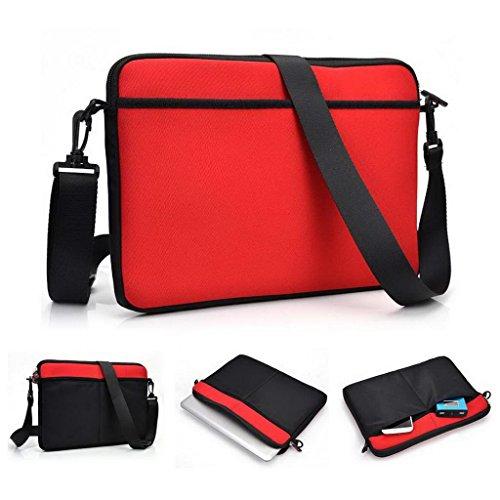 Kroo Laptop Reißverschluss Convertible Sleeve/Tasche Universal für Archos 97Neon Tablet rot rot