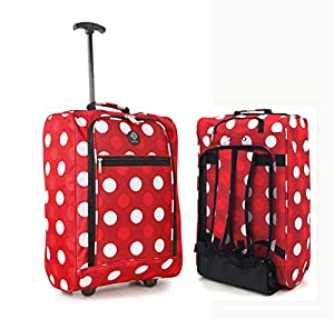 Hand Luggage Cabin Bag Trolley with Wheels Flight Bags Suit Case for Easyjet, Ryanair, British Airways, Virgin, FlyBe, Jet 2 and Many others Airlines or Travel