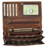 Hill Burry Geldbörse aus geöltem Leder Vintage - Look LGHB011