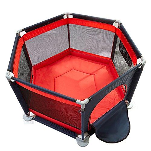 ZfgG Baby Play Fence Child Protection Playpen Home Terrain de Jeu intérieur Clôture de Parc pour Enfants (Couleur : Red)