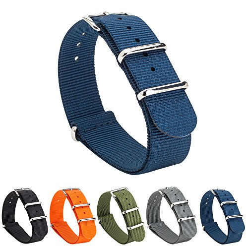 Gemony Nato Strap Premium Ballistic Nylon Watch Band, Larghezza di banda...