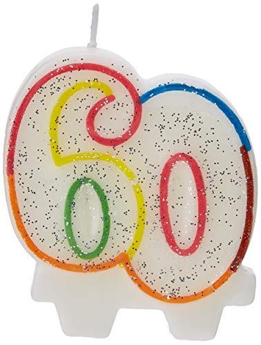 Amscan 99008137,5cm Milestone 60 Años Cumpleaños Vela