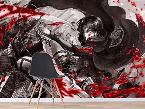 Wall Paper Attack On Titan Popular Anime Wall Paper Mural Wall Print Decal Wall Murals (H)300*(W)210cm pro (Titan-walker)