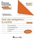 Droit des obligations : Le contrat - L2-S1...