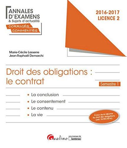 Droit des obligations : Le contrat - L2-S1