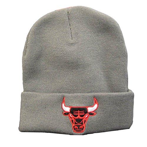 Mitchell & Ness NBA CHICAGO BULLS Cuff Knit Adult's Beanie Hat (BRTN10) (Grey) (One...
