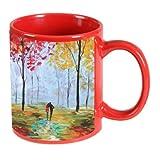 Printland Long Walk Red Coffee Mug 350 - ml best price on Amazon @ Rs. 299