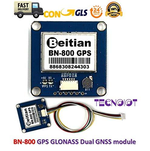 TECNOIOT Beitian BN-800 Dual GPS GLONASS GNSS Module with Antenna Compass  HMC5883L