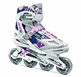 Roces Damen Inline Skates Pop Up, White/Blue/Pink, 37, 400773-001