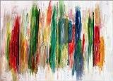 Posterlounge Acrylglasbild 130 x 90 cm: Farbenfrohe, Abstrakte Malerei von teddynash - Wandbild, Acryl Glasbild, Druck auf Acryl Glas Bild