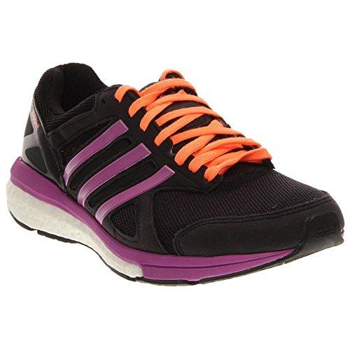 Adidas Adizero Tempo 7 W Noir / violet / pêche Running Shoe 6 nous Black/Purple