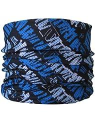 Braga para el cuello, pañuelo de microfibra multifunción, diseño de azul garabato