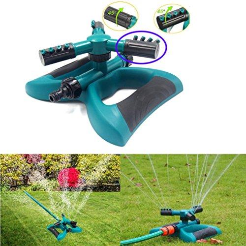 YUYOUG 3-Arm Rasen drehbar Sprinkler oszillierendes 360° drehbaren runden Sockel Spray Düsen Blume Wasser Bewässerung Ausstattung für Garten Gras Country Hof Dach Bewässerung Werkzeug -
